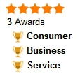 5 stars and 3 awards
