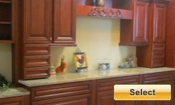 Cherry Cabernet Kitchen Cabinets Picture