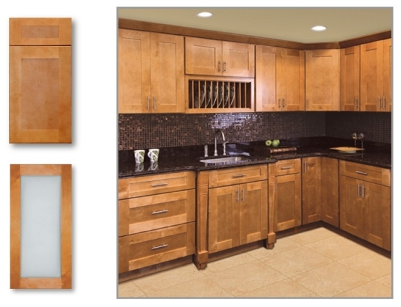 Cinnamon shaker kitchen cabinet depot for Shaker kitchen cabinets