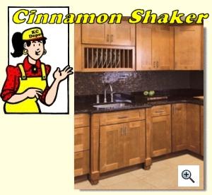 Cinnamon Shaker Cabinets