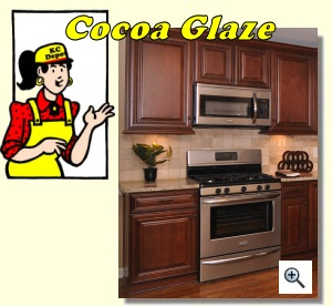 Merveilleux Cocoa Glaze Cabinets