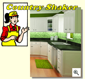 Country Shaker Kitchen Cabinets