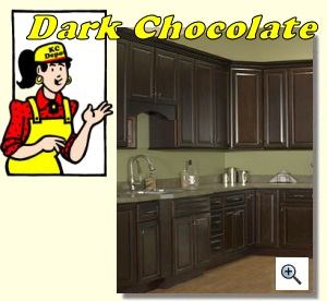 Dark Chocolate Cabinets