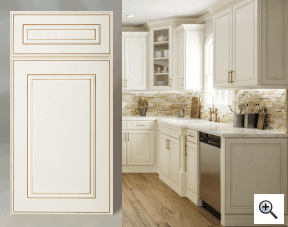View Elegant Antique Ready To Assemble (RTA) Kitchen Cabinets