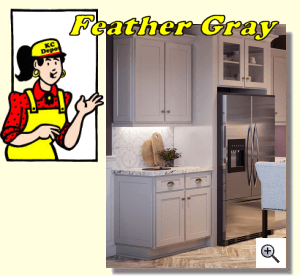 Marvelous Feather Gray Cabinets