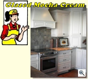 Glazed Mocha Cream Cabinets