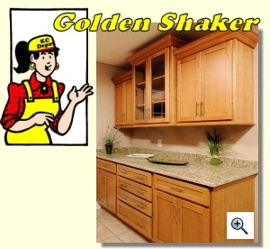 Golden Shaker Ready To Assemble Kitchen Cabinets
