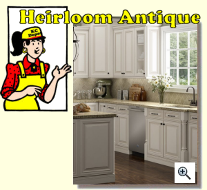 Heirloom Antique Ready to Assemble Kitchen Cabinets