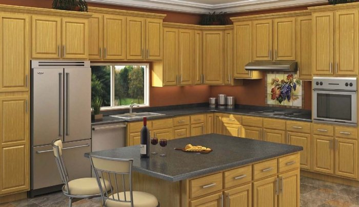 Honey Oak Kitchen Cabinet Depot