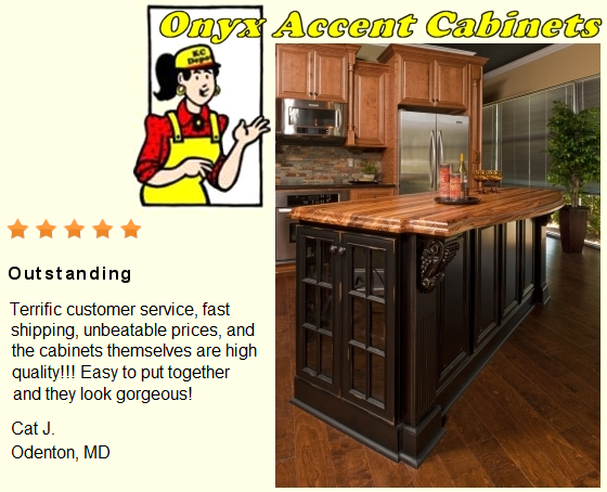Onyx accent kitchen cabinet depot for Black onyx kitchen cabinets