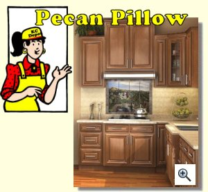 Pecan Pillow Ready To Assemble Kitchen Cabinets