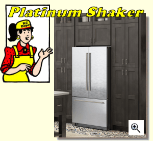 Platinum Shaker Kitchen Cabinets