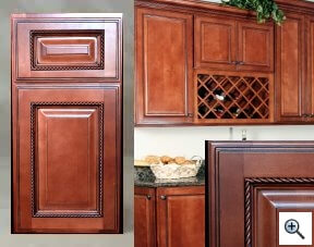Rope accent kitchen cabinets