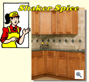 Shaker Spice Cabinets
