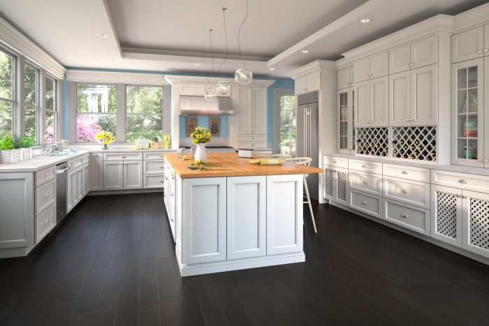 Traditional White Cabinets
