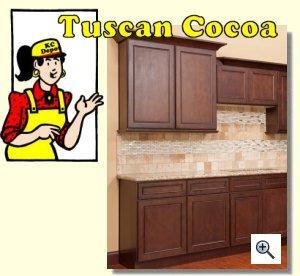 Cocoa Glaze Cabinets