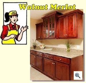 Merveilleux Walnut Merlot Cabinets