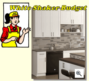 White Shaker Budget Ready to Assemble Kitchen Cabinets