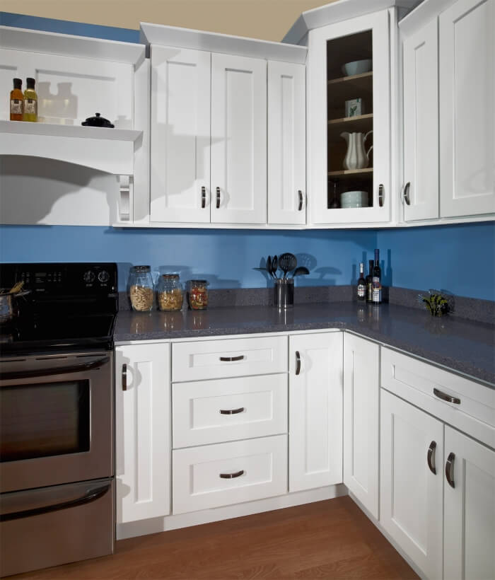 White Shaker Kitchen Cabinets Extraordinary White Shaker  Kitchen Cabinet Depot Design Ideas