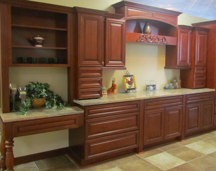 Cherry Rose  Kitchen Cabinet Depot