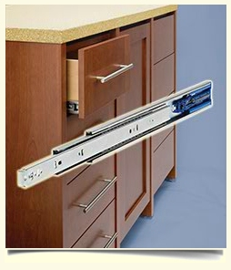kitchen cabinet drawer glides are important - Kitchen Drawer Slides