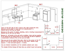 Kitchen Layout Instruction Sheet