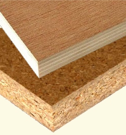 Particle board and wood boards compared