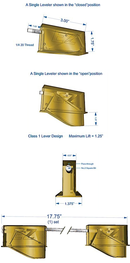 Ez Level Cabinet Leveling Systems